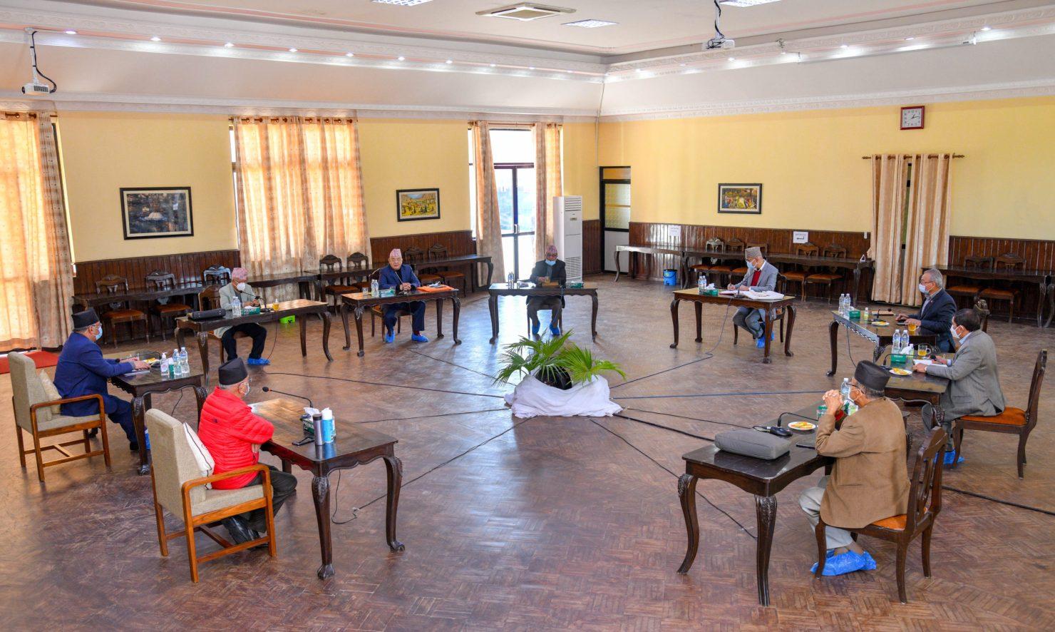 नेकपाको सचिवालय बैठक सकियो, प्रचण्डको प्रस्तावको विरुद्ध ओलीको पनि प्रस्ताव