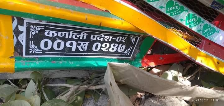 दैलेख रामागाडमा हाइस दुर्घटना हुदा २ जनाकाे मृत्य १० घाईते