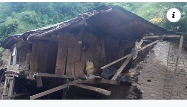 लगातारको बर्षाले घर भत्किदा महावैमा एकको मृत्यु,जिल्लाभरी लाखौ धनजनको क्षति