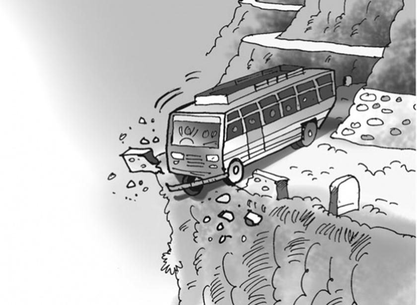 मुगुमा बस दुर्घटना हुँदा २३ जनाको मृत्यु